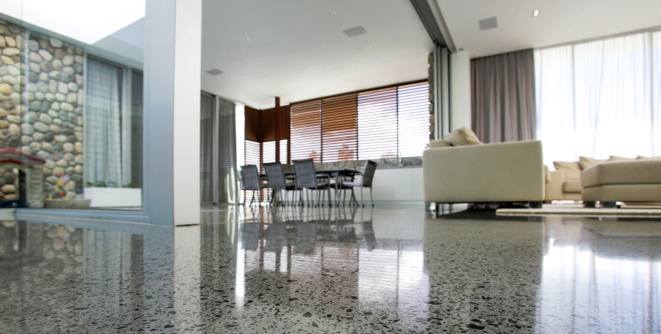 Modern look polished concrete